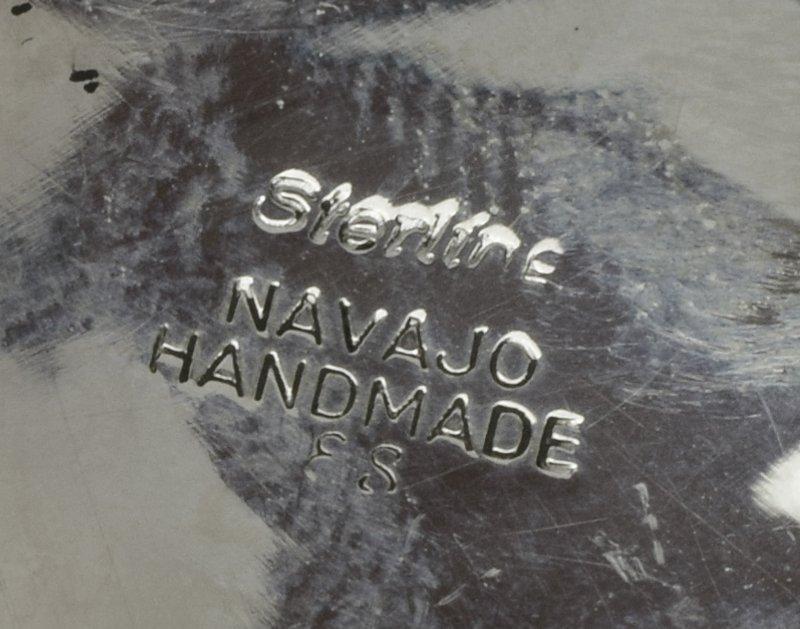 Sterling Silver Navajo Bear Claw Belt Buckle - 5