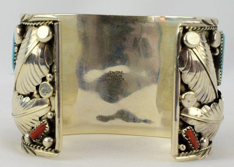 Navajo Sterling Lg. Bear Claw Cuff Bracelet - 4