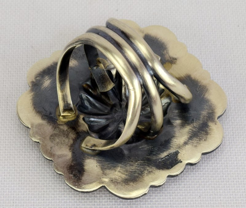Native American Sterling Silver Concho Ring - 3