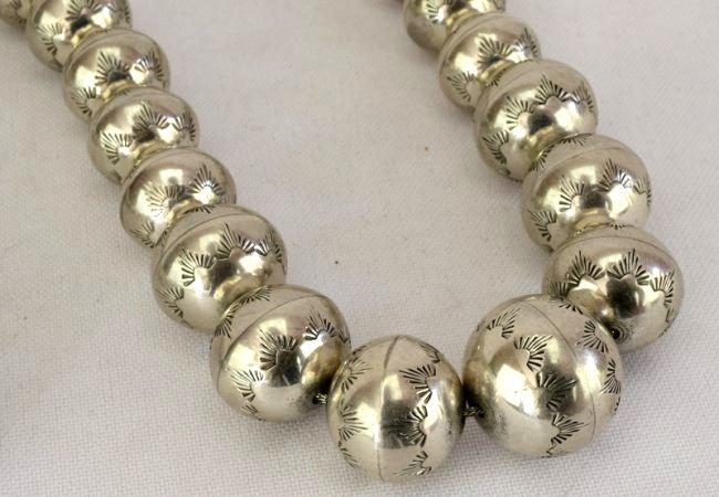 Native American Sterling Silver Navajo Pearls Necklace - 3