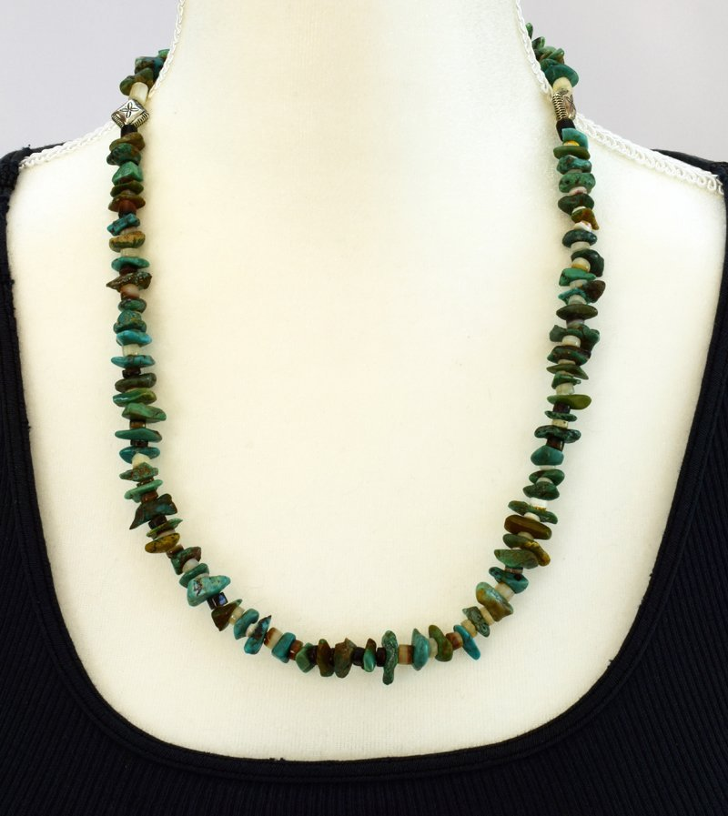 Navajo Natural Turquoise Nugget Necklace