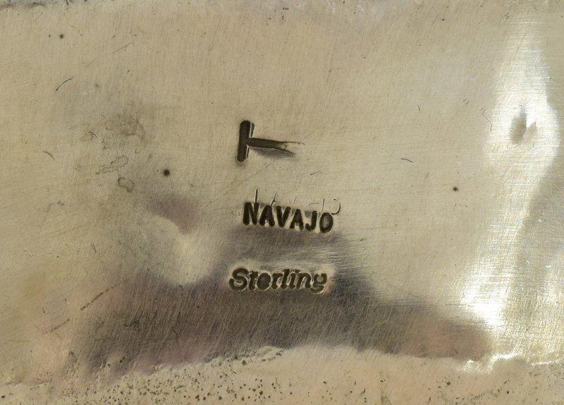Navajo Old Pawn Sterling Bear Claw Cuff Bracelet - 4