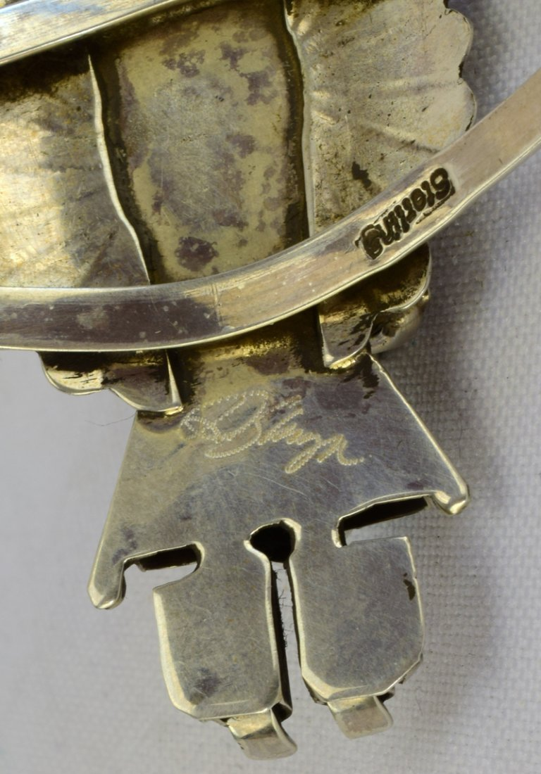 Sterling Silver Navajo Kachina Cuff Bracelet - 4