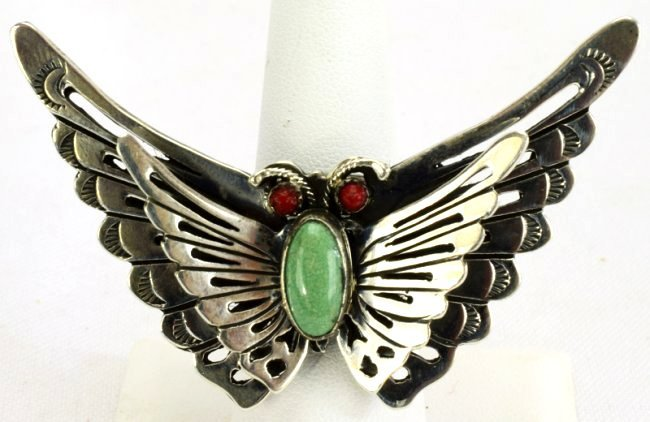 Native American Sterlng Silver Butterfly Ring