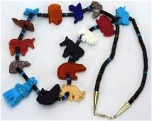 Native American Multi Stone Fetish Necklace