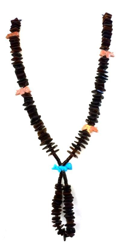 Zuni Tortoise Shell Beads with Fetishes and Jockla