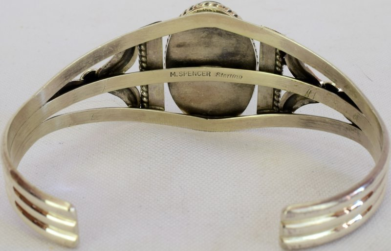 Navajo Sterling Silver Royston Turquoise Bracelet - 4