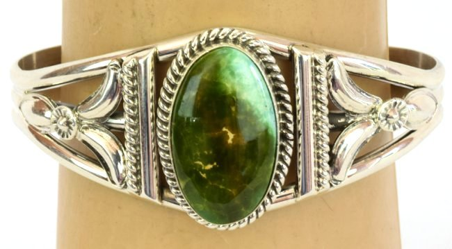Navajo Sterling Silver Royston Turquoise Bracelet - 5