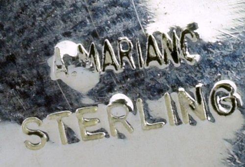 Navajo Sterling Silver Heartline Bear Pendant - 4