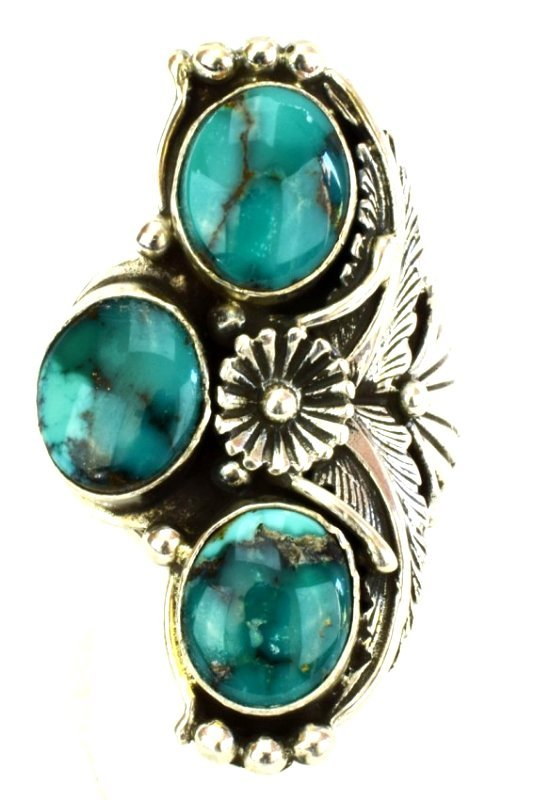 Navajo Sterling Silver Natural Turquoise Ring