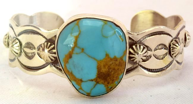 Navajo Chimney Butte Turquoise Cuff Bracelet