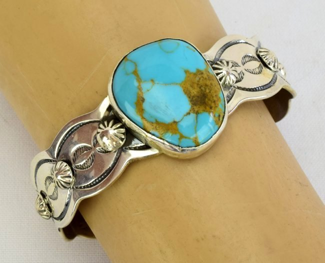 Navajo Chimney Butte Turquoise Cuff Bracelet - 2