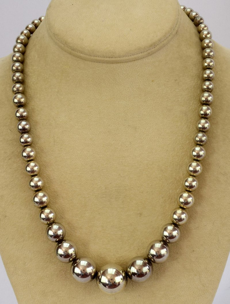 Native American Sterling Silver Navajo Pearls Necklace - 3