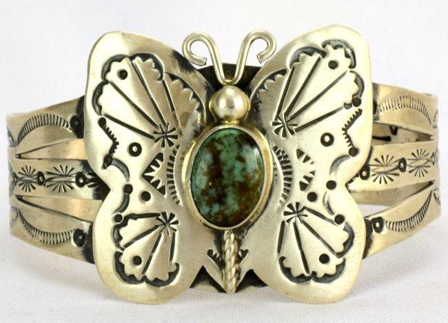 Navajo Sterling Butterfly Cuff Bracelet-Marcella James