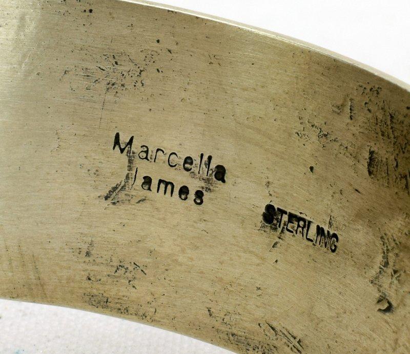 Navajo Sterling Butterfly Cuff Bracelet-Marcella James - 4