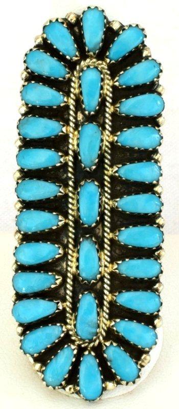 Navajo Sterling Silver Long Cluster Ring