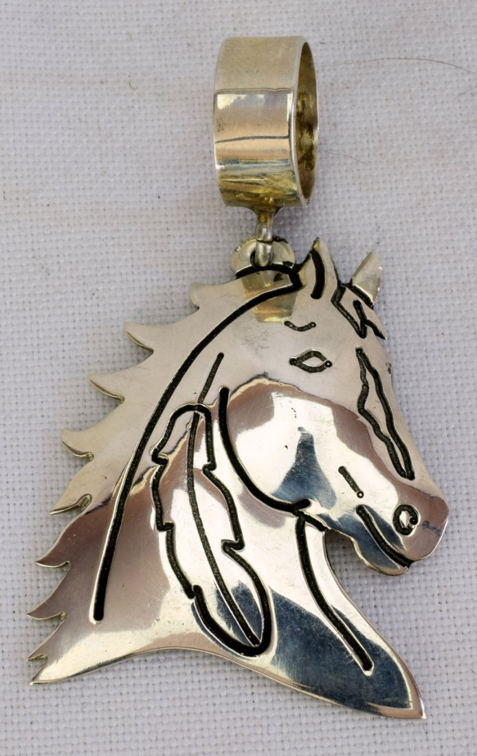 Vintage Sterling Horse Head Pendant by Tommy Singer - 3