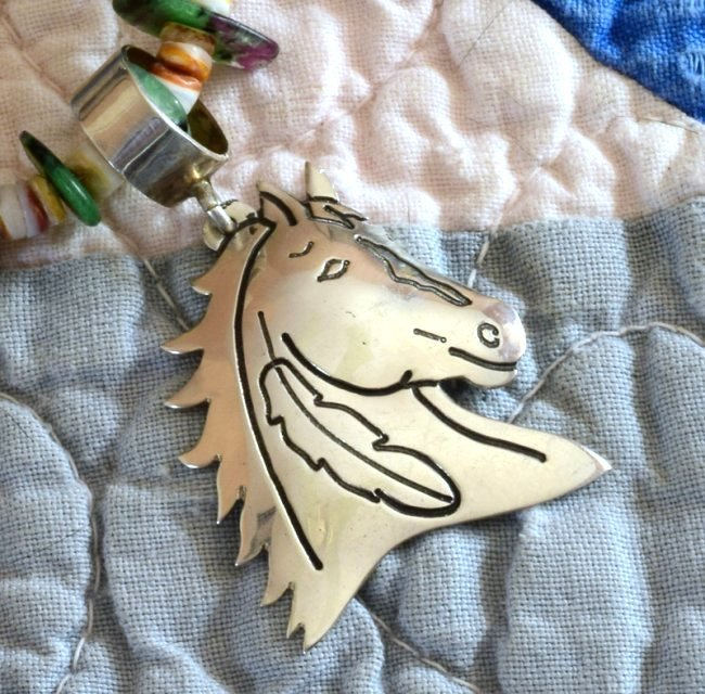 Vintage Sterling Horse Head Pendant by Tommy Singer - 4