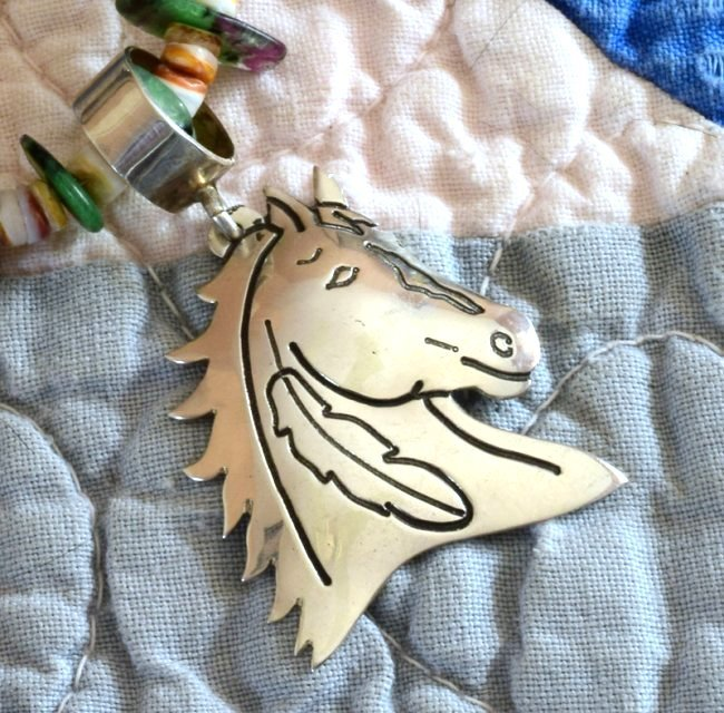 Vintage Sterling Horse Head Pendant by Tommy Singer - 5
