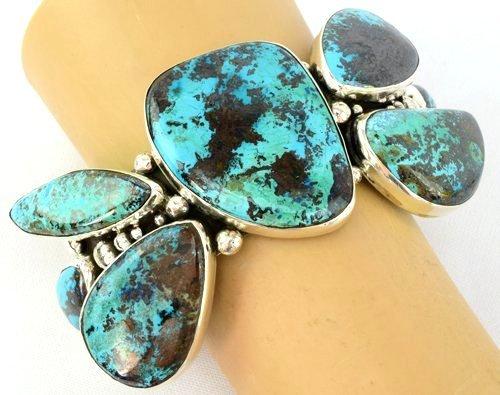 Navajo Sterling Huge Turquoise Cuff Bracelet -149 Grms.
