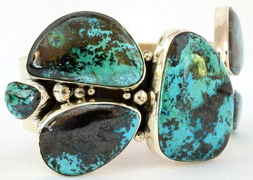 Navajo Sterling Huge Turquoise Cuff Bracelet -149 Grms. - 3