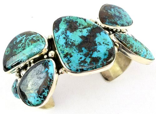 Navajo Sterling Huge Turquoise Cuff Bracelet -149 Grms. - 5