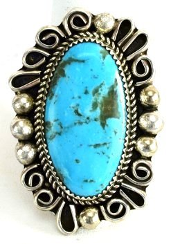 Native American Sterling Natural Turquoise Ring