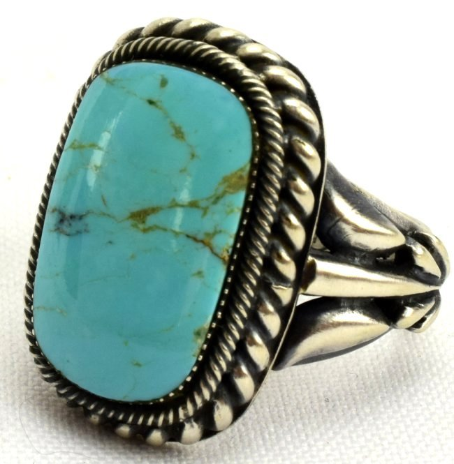 Navajo Bobby Platero Sterling Silver Turquoise Ring