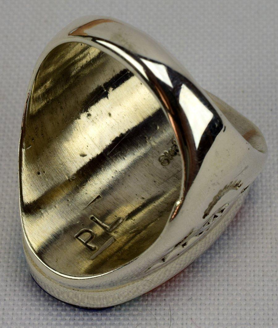 Navajo Sterling Silver Multi-Stone Men's Ring - 4