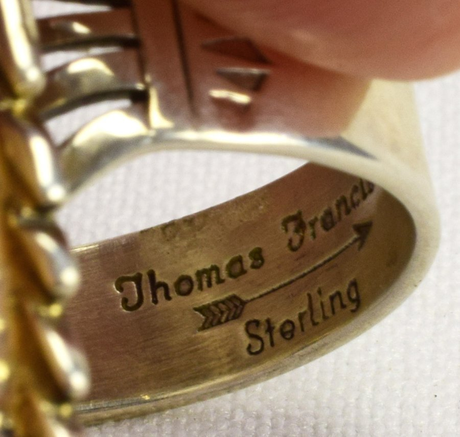 Thomas Francisco Sterling Silver Spiny Oyster Ring - 4