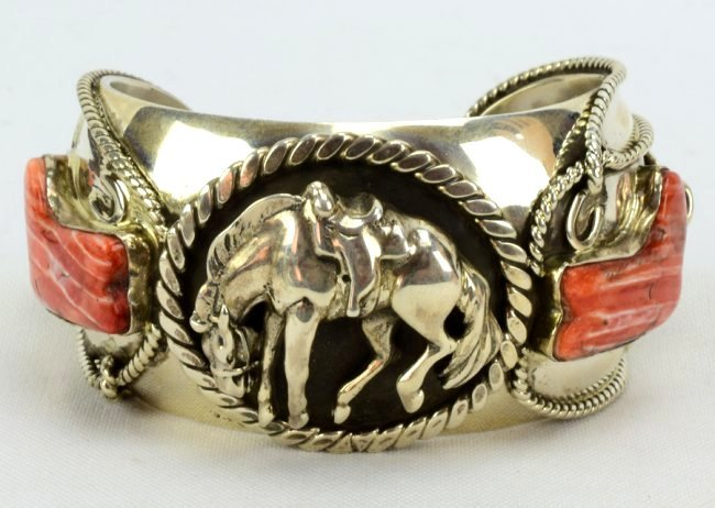 Russell Sam  3-D Bucking Bronc w/Spiny Oyster Bracelet