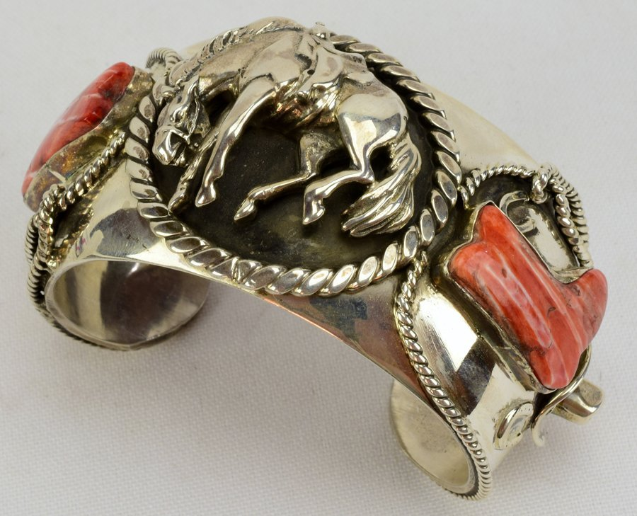 Russell Sam  3-D Bucking Bronc w/Spiny Oyster Bracelet - 2
