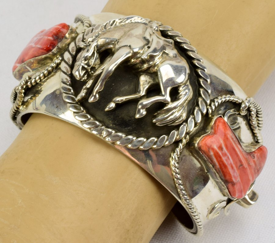 Russell Sam  3-D Bucking Bronc w/Spiny Oyster Bracelet - 5