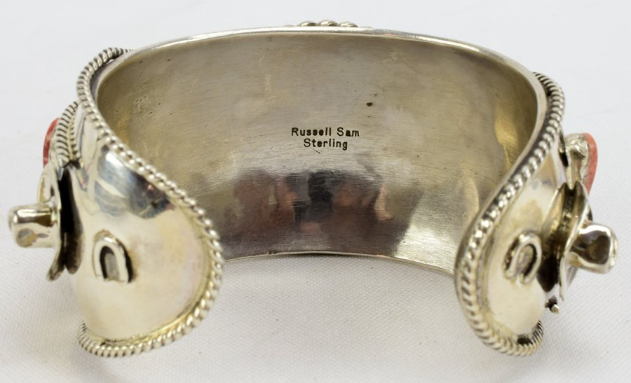 Russell Sam  3-D Bucking Bronc w/Spiny Oyster Bracelet - 6