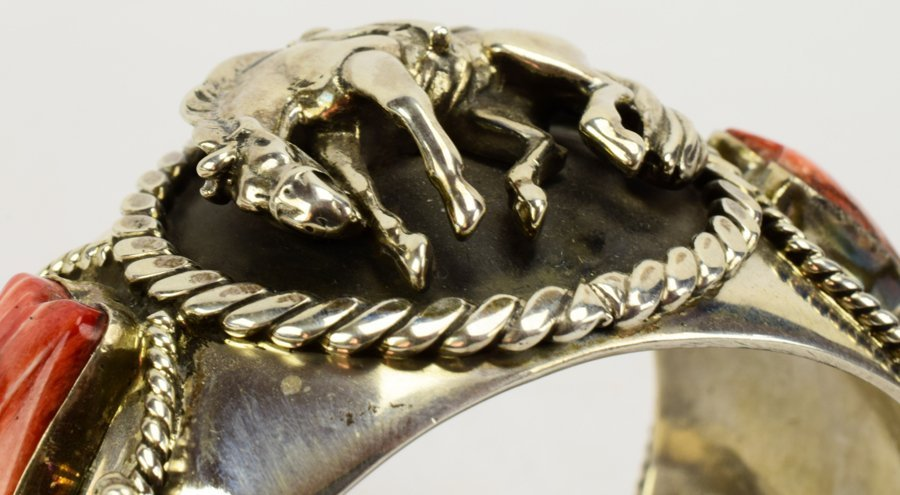 Russell Sam  3-D Bucking Bronc w/Spiny Oyster Bracelet - 8
