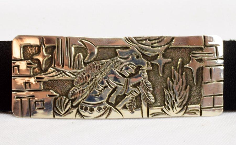Masterpiece Sterling  Kachina Concho Belt -  L.Becenti - 10