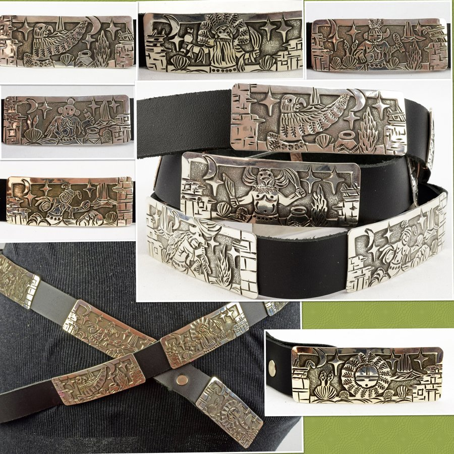 Masterpiece Sterling  Kachina Concho Belt -  L.Becenti