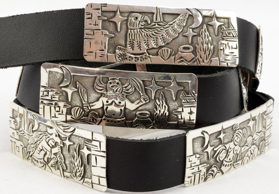 Masterpiece Sterling  Kachina Concho Belt -  L.Becenti - 2