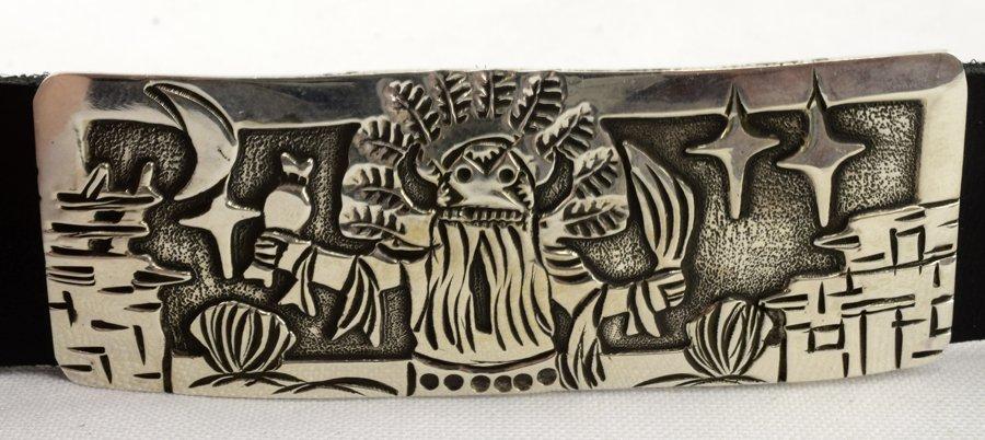 Masterpiece Sterling  Kachina Concho Belt -  L.Becenti - 3