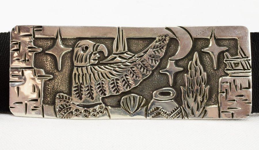 Masterpiece Sterling  Kachina Concho Belt -  L.Becenti - 4