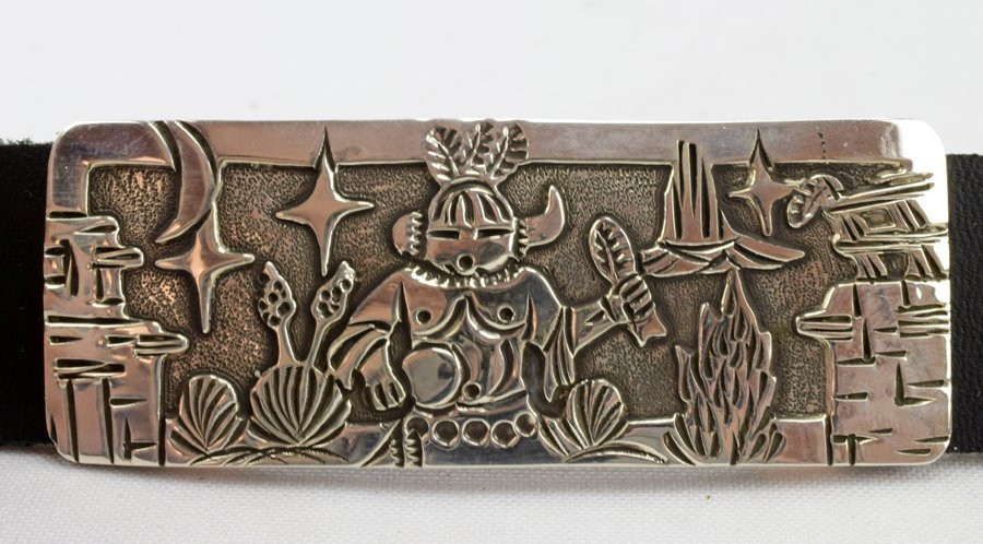 Masterpiece Sterling  Kachina Concho Belt -  L.Becenti - 5