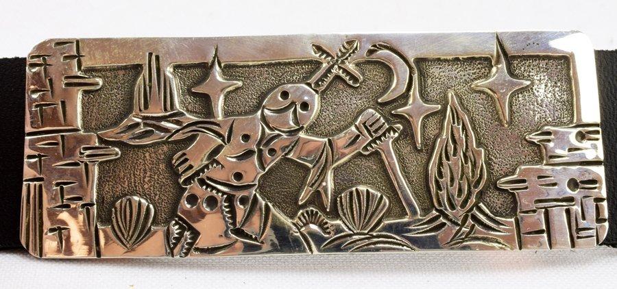 Masterpiece Sterling  Kachina Concho Belt -  L.Becenti - 8