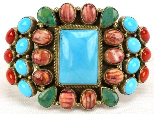 Navajo Sterling Multi-Stone Bracelet by Daniel Mike