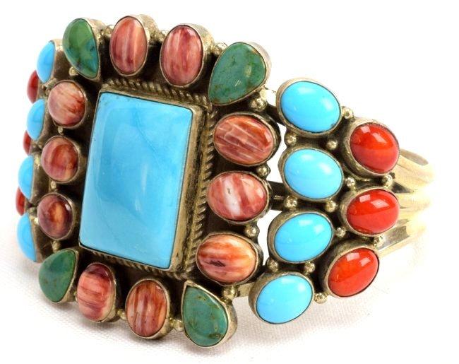 Navajo Sterling Multi-Stone Bracelet by Daniel Mike - 3