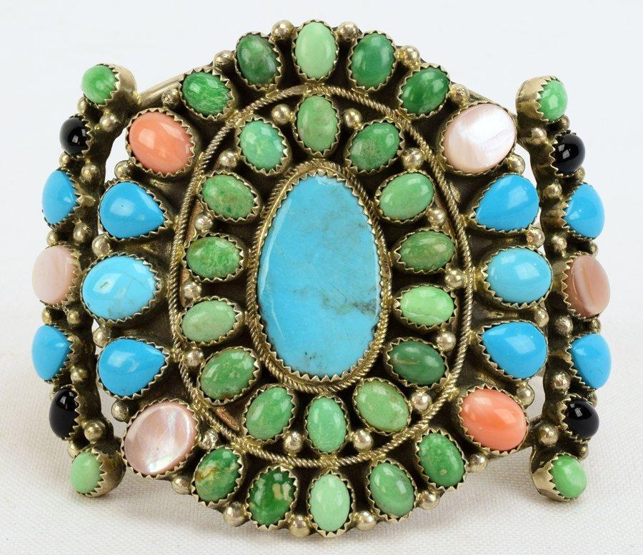 Masterpiece Navajo Old Pawn Multi-Stone Bracelet