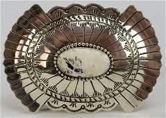 Navajo Sterling Masterpiece Belt Buckle-Marcella James