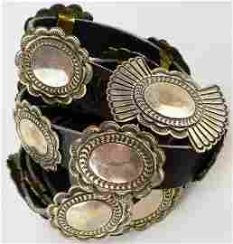 Old Pawn Sterling Concho Belt by V. Hicks