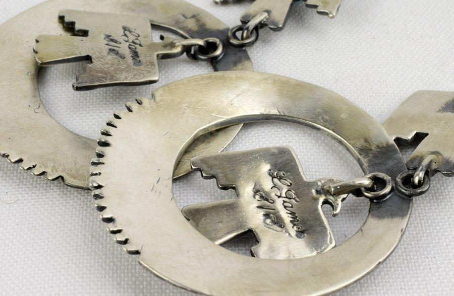 Native American Thunderbird Earrings w/Turq. - 5