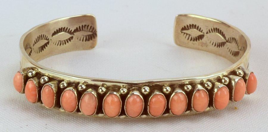 Martha Cayatineto Angel Skin Coral Sterling Bracelet - 2