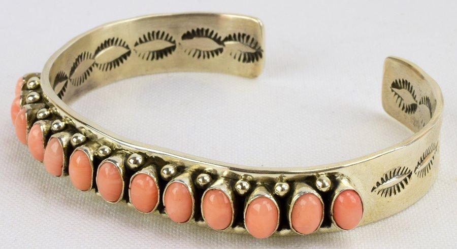 Martha Cayatineto Angel Skin Coral Sterling Bracelet - 3